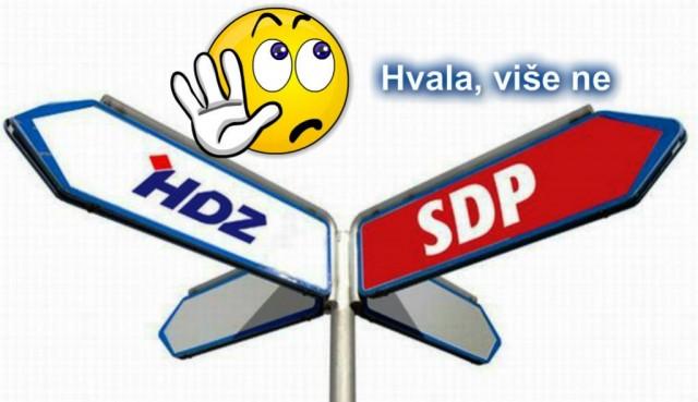 Želite da vam bude bolje, na izborima ne glasujte više ni za SDP i HDZ