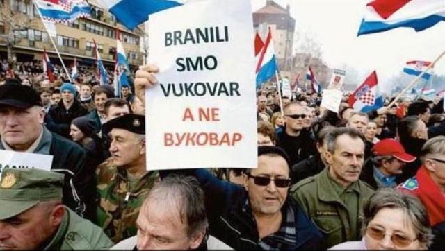 Veliko NE ćirilici u Vukovaru