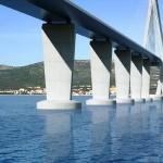Jugo odgodilo postavljanje pravih pilota za Pelješki most