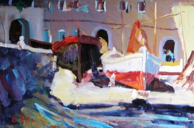 Otvorenje izložbe slikara Claudia Franka u Caffe baru Iskra