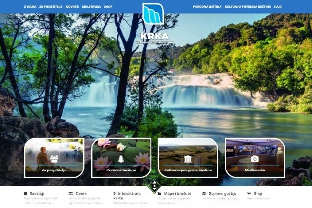 """""""Nacionalni park Krka"""" predstavlja novi dizajn svoje web-stranice"""