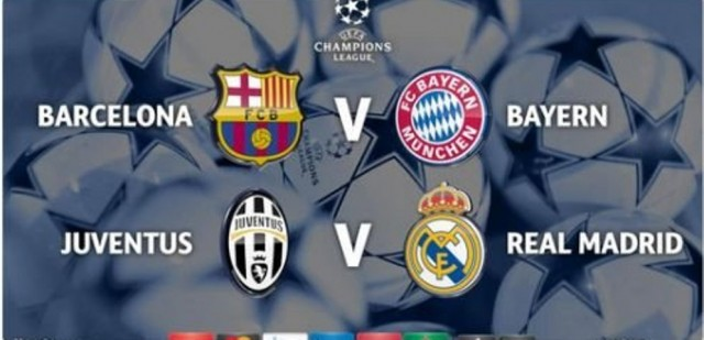Za finale Barcelona – Bayern i Juventus – Real Madrid