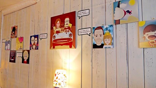 Izložba vektorski obiteljski portreti