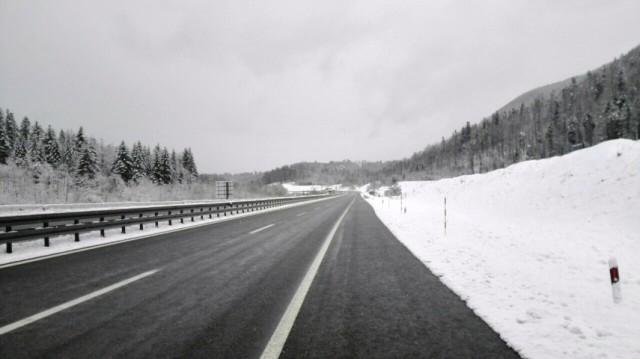 Još sutra moguć slab snijeg u gorskim krajevima