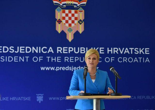 """Predsjednica Hrvatske """"oprala"""" Haški sud"""