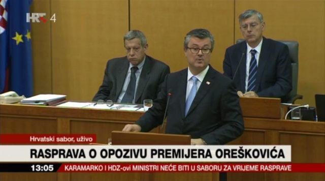 """Orešković: """"Sve optužbe su lažne, postao sam zapreka"""""""