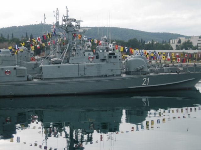 U zadarsku luku stigla raketna topovnjača – ratni brod RTOP-21 Šibenik