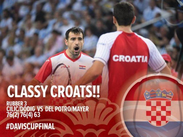 Finale Davis Cupa – Hrvatska vodi 2 : 1