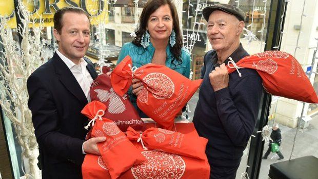 Bereits zum 10. Mal gibt es heuer den umweltfreundlichen Weihnachtssack der Stadt Wien in ausgewählten Wiener BILLA Filialen und bei der MA 48.