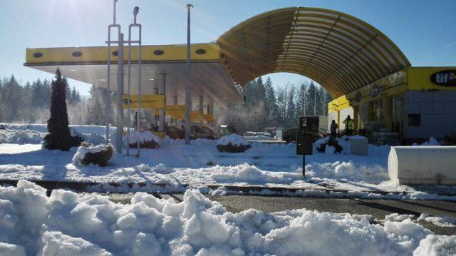 Snijeg u gorskoj Hrvatskoj!