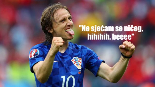 """Luka Modrić : """"Više se ničeg ne sjećam"""""""