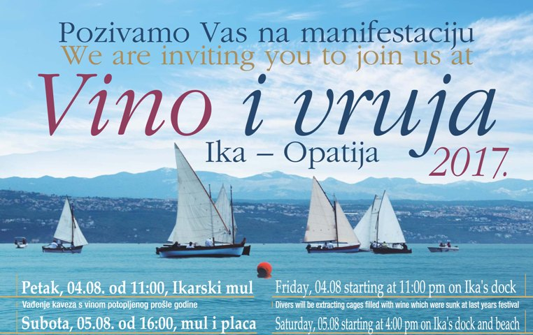 Najavljena manifestacija Vino i vruja 2017