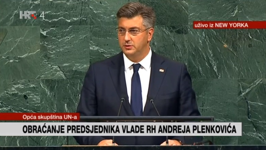 Plenković održao prvi govor pred Općom skupštinom UN-a