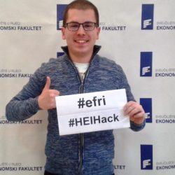 Student Ekonomskog fakulteta iz Rijeke sudjeluje u Bruxellesu na HEI-Hacku