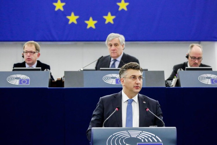 Govor premijera Plenkovića u Europskom parlamentu
