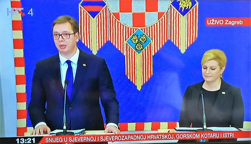 """Vučić u Zagrebu bahat : """"nećemo mi nikoga ništa moliti"""""""