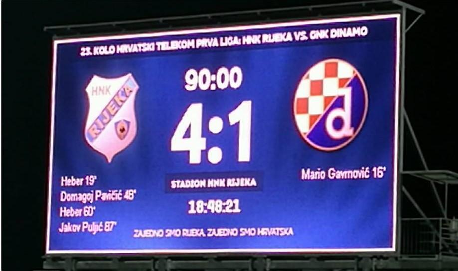 Rijeka razmontirala Dinamo