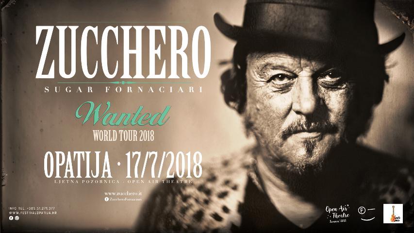 Krenula prodaja ulaznica za koncert Zucchera 17. srpnja 2018. u Opatiji