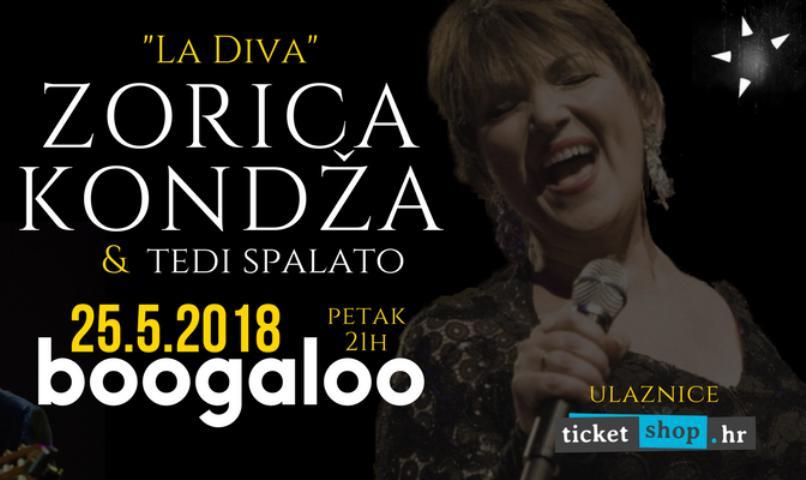 """""""La Diva"""" Zorica Kondža u klubu Boogaloo Zagreb"""