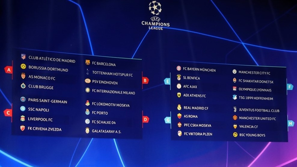 Održan ždrijeb Lige prvaka
