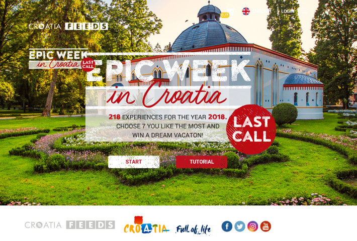 """Posljednji nastavak kampanje """"Epic Week in Croatia – Last call"""""""