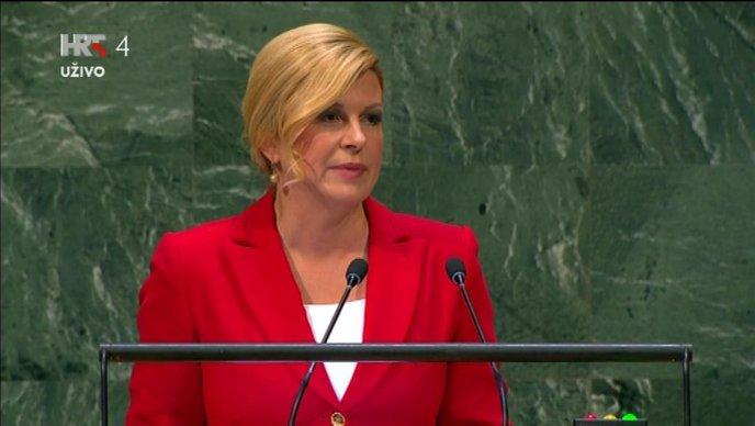 Kolinda u UNu započela govor s nogometnim uspjesima Hrvatske