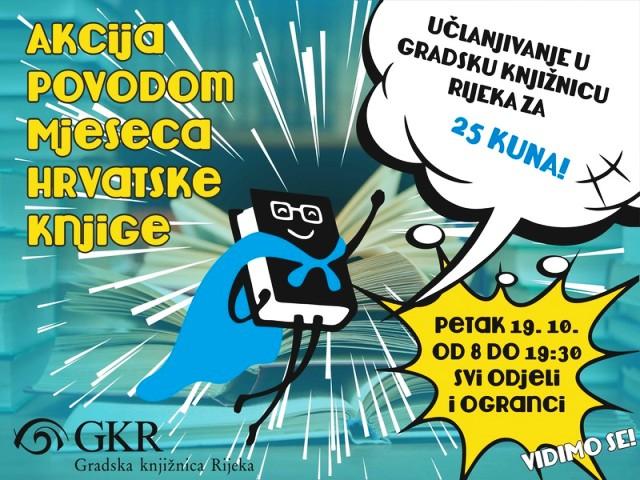 Akcija povodom Mjeseca hrvatske knjige