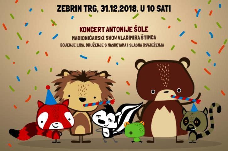 Ispraćaj Stare godine u zoološkom vrtu grada Zagreba