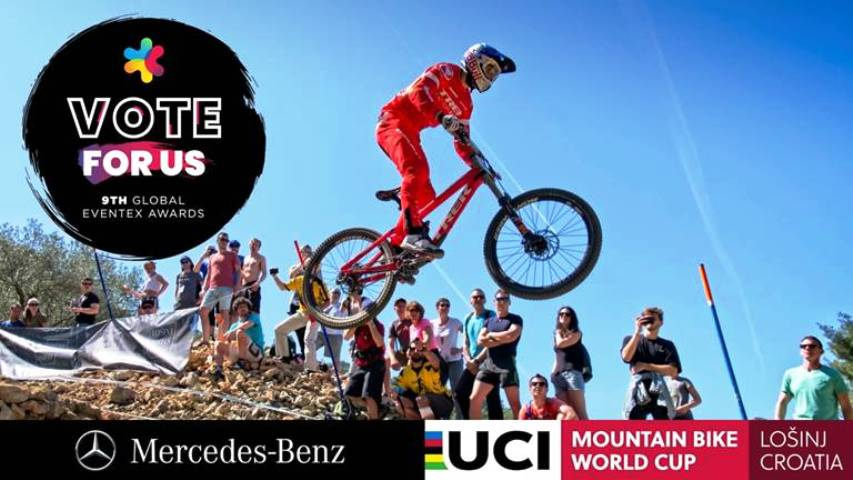 Mercedes-Benz UCI MTB Downhill Lošinj World Cup 2018 nominiran za 9. Eventex Awards!
