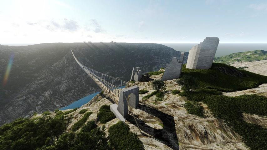 Predstavljanje projekta visećeg pješačkog mosta Nečven – Trošenj