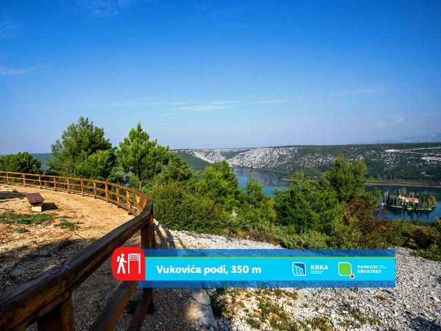 """Nacionalni park """"Krka"""" predstavlja svoje pješačke staze: Vukovića podi, 350 m."""