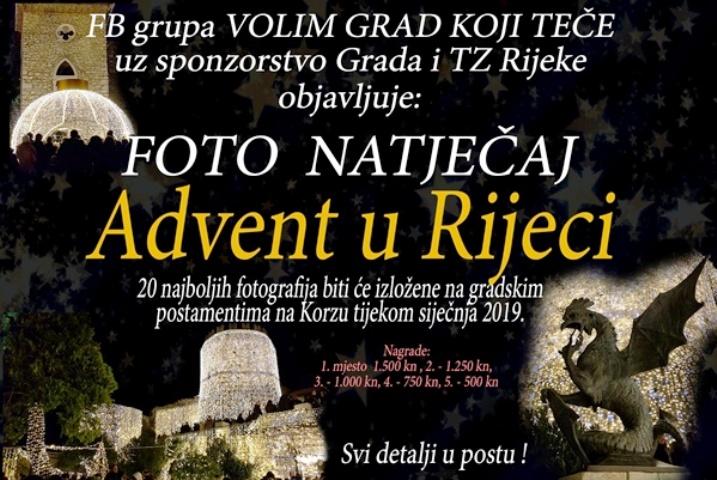 NATJEČAJ ZA NAJBOLJU FOTOGRAFIJU RIJEKA ADVENTA 2018.