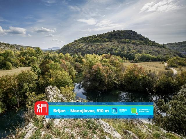"""Nacionalni park """"Krka"""" predstavlja svoje pješačke staze: Brljan – Manojlovac, 910 m."""