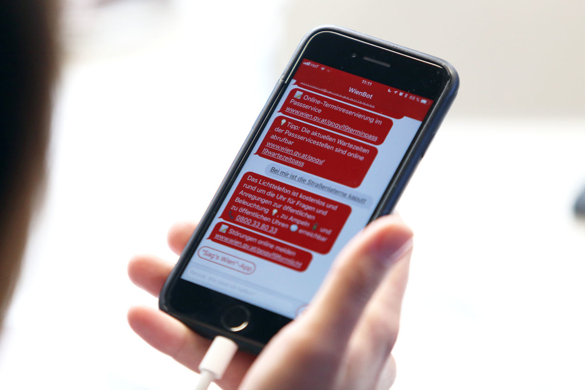 Chatbot bečke gradske uprave zna odgovore na pitanja iz 360 komunalnih područja