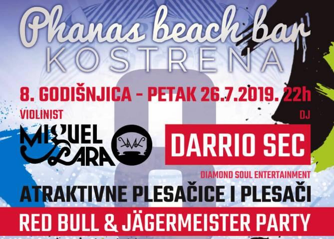 8. godišnjica Phanas beach bar-a u Kostreni.