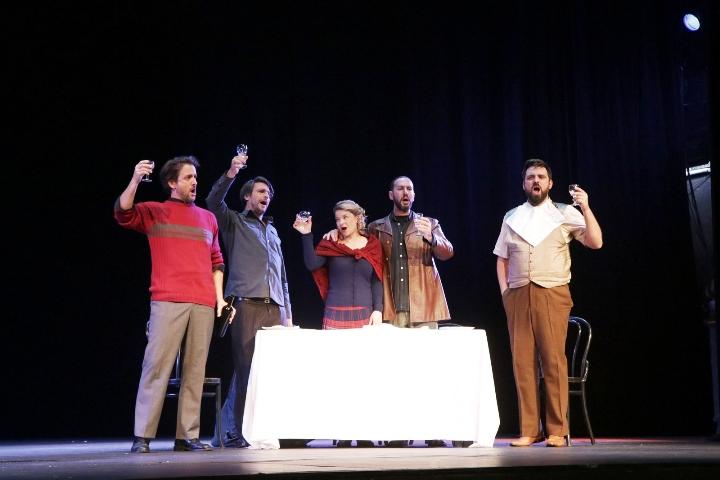 "Opera ""La bohème""  na pozornici HNK Ivana pl. Zajca"