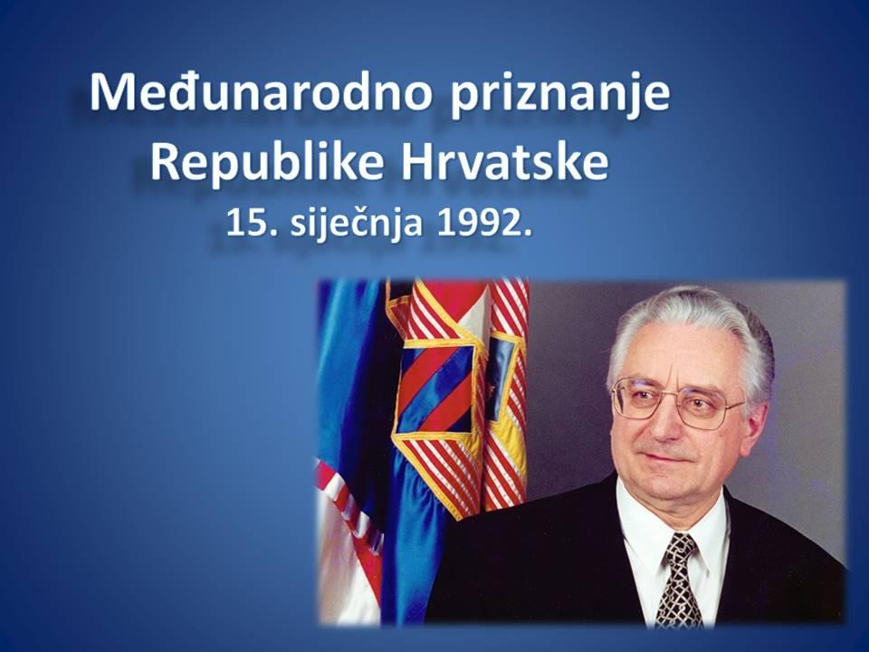 Dan međunarodnog priznanja Hrvatske!