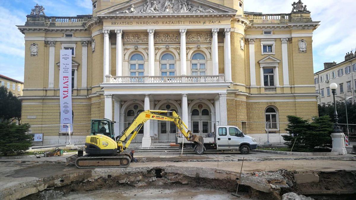 Rijeka dočekala predsjedanje kulture EUrope s bagerima i kamionima