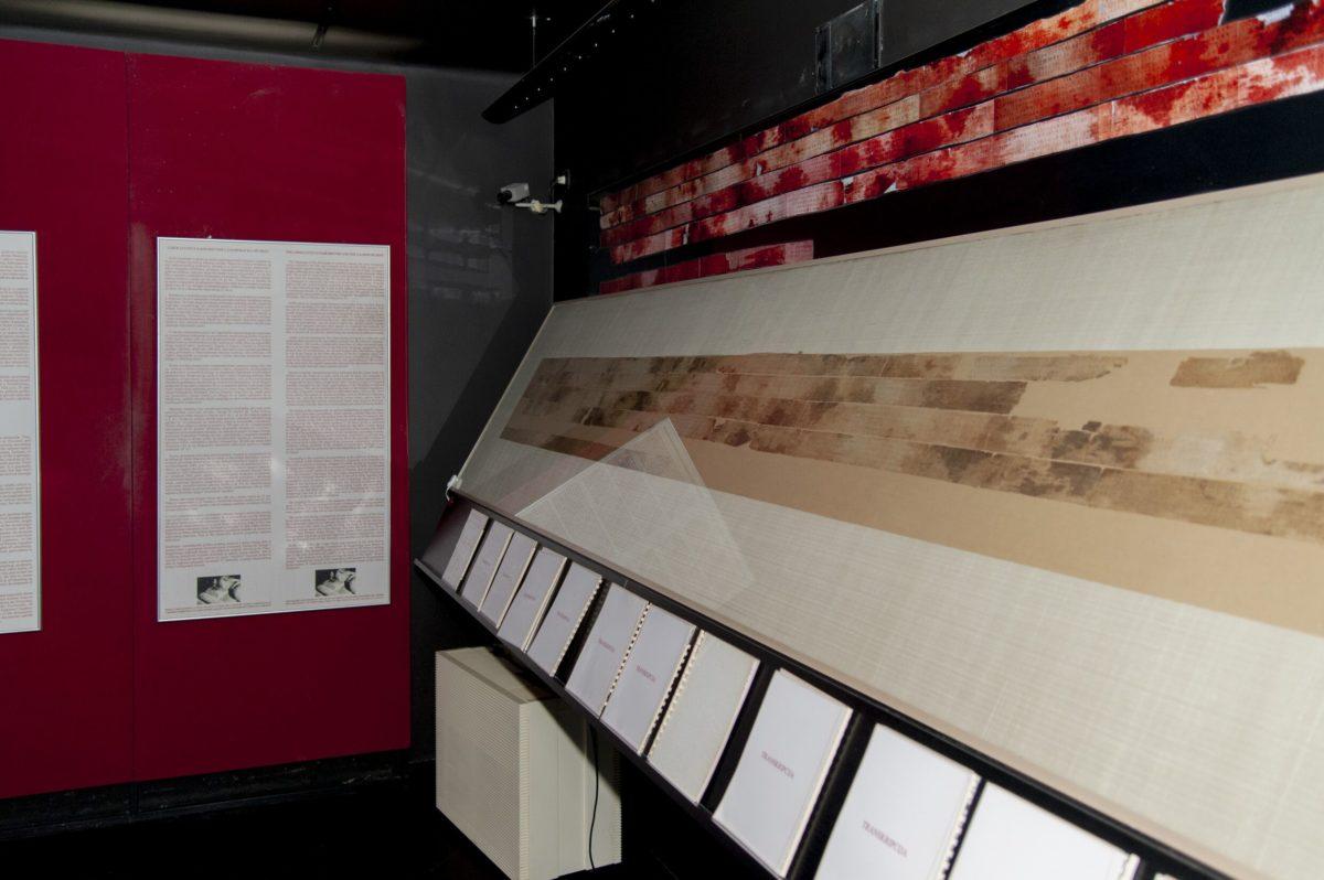 U Arheološkom muzeju u Zagrebu izvršeno je osiguranje Zagrebačke lanene knjige