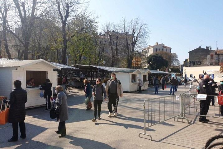Uređivanje dijela zelene tržnice u centru Pule