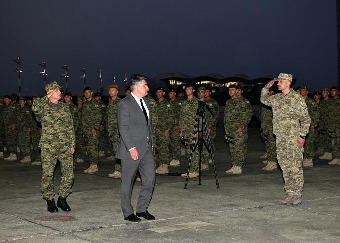 Predsjednik Republike prisustvovao je dočeku vojnika 12. hrvatskog kontingenta