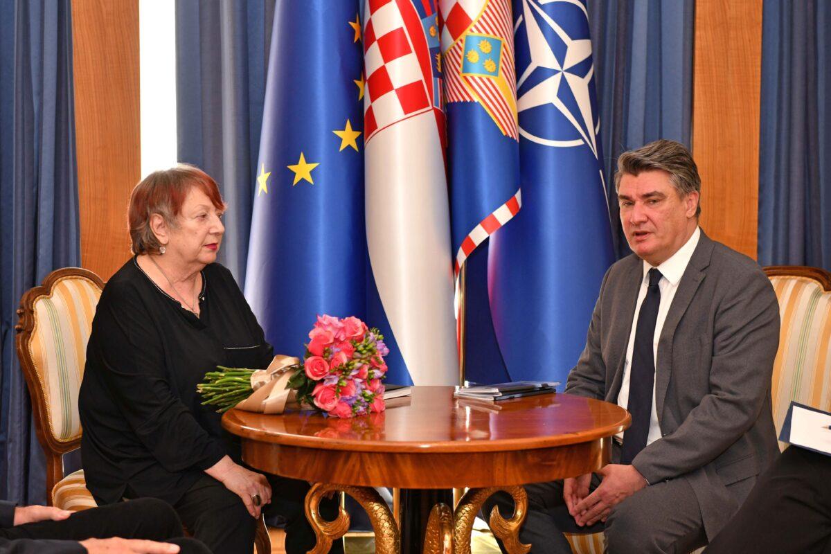 Predsjednik Republike Zoran Milanović primio je povjesničarku umjetnosti Snješku Knežević