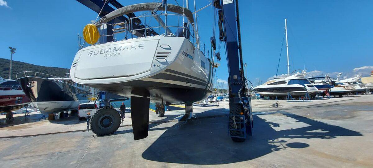 Najveća jedrilica u hrvatskom charteru obavila remont u Cresu